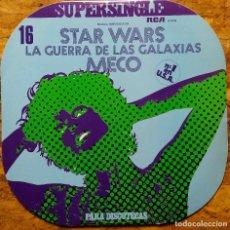 Discos de vinilo: MECO, STAR WARS. LA GUERRA DE LAS GALAXIAS. MAXI SINGLE ESPAÑA 2 TEMAS.. Lote 225086866