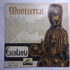 Discos de vinilo: ESCOLANIA DEL MONASTERIO DE MONSERRAT..EL DESEMBRE CONGELAT..SANT JOSEP I LA MARE DE DÉU.EL NOI DE . Lote 112769295