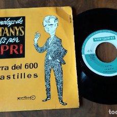 Discos de vinilo: SINGLE - VERGARA - CAPRI - MONÓLEGS DE CASTANYS. Lote 112770143