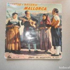 Discos de vinilo: DISCO VINILO AÑO 1958 - EP. CANTOS Y BAILES DE MALLORCA. COPEO MATANSE/MATEIXA DE PRIMAVERA. Lote 112770575