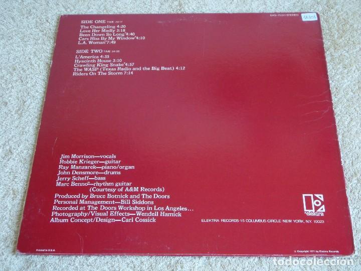 Discos de vinilo: Doors – L.A. Woman USA,1971 Elektra - Foto 2 - 112779227