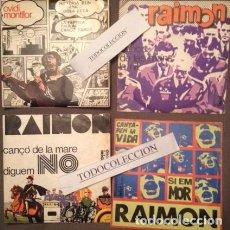 Discos de vinilo: COLECCION 6 SINGLES DISCOPHON (RAIMON Y OVIDI MONTLLOR) PORTADAS EQUIPO CRÓNICA, COVER POP ART. Lote 112779387