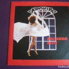 Discos de vinilo: KROKUS SG ARISTA 1984 BALLROOM BLITZ/ READY TO ROCK HEAVY METAL - GLAM ROCK -. Lote 112790271