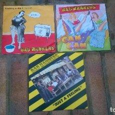 Discos de vinilo: LOTE 3 SIGLES VINILO: BAD MANNERS (1981). Lote 112801899