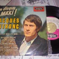 Discos de vinilo: JACQUES DUTRONC EP ET MOI ET MOI ET MOI + 3 AÑO 1966 VG+ RARO. Lote 112804998