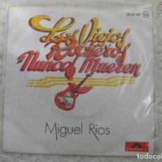 Discos de vinilo: MIGUEL RÍOS – LOS VIEJOS ROCKEROS NUNCA MUEREN - POLYDOR 1979 - SINGLE - P -. Lote 112814151