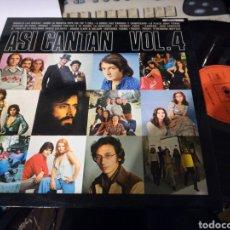 Discos de vinilo: ASI CANTAN VOL.4 LP. 1974. Lote 112826931