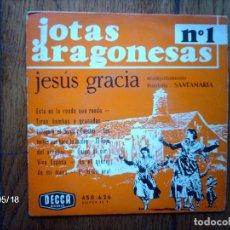 Discos de vinilo: JESUS GRACIA - JOTAS ARAGONESAS Nº 1 - EDICIÓN FRANCESA . Lote 112828891
