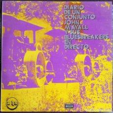 Discos de vinilo: DIARIO DE UN CONJUNTO JOHN MAYALL Y SUS BLUESBREAKERS EN DIRECTO - 2 LP - CBS - 1971 ED. ESPAÑOLA. Lote 112836835