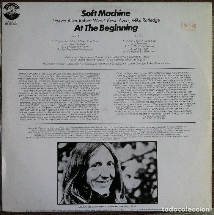 Discos de vinilo: Soft Machine - At the beginning - LP - Charly - 1977 Edición española - Foto 2 - 112837243