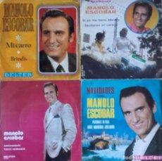 Discos de vinilo: LOTE DE 8 SINGLES DE MANOLO ESCOBAR. Lote 112906003