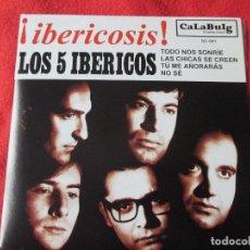 Discos de vinilo: EP LOS 5 IBÉRICOS ¡IBERICOSIS! COMO NUEVO. Lote 112919859