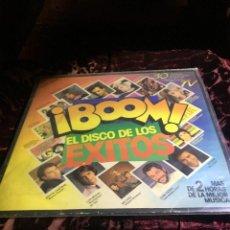 Discos de vinilo: ¡ BOOM ! DISCO DE LOS EXITOS - 2 LP'S VINILO - EMI 1985.. Lote 112927015