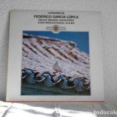 Discos de vinilo: CANCIONES DE FEDERICO GARCIA LORCA-LP- OSCAR MONZO-AIDA MONASTERIO. Lote 112940215