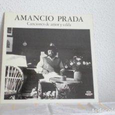 Discos de vinilo: AMANCIO PRADA-CANCIONES DE AMOR Y CELDA-PORTADA ABIERTA. Lote 112940963
