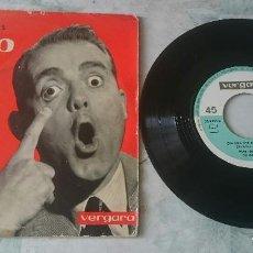 Discos de vinilo: PEPE IGLESIAS EL ZORRO: EL CHA CHA CHA DEL VIEJECITO + 3 (VERGARA 1963). Lote 112941051