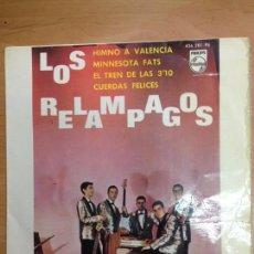 Discos de vinilo: EP LOS RELAMPAGOS /HIMNO A VALENCIA/MINNESOTA FATS/EL TREN DE LAS 3.10/CUERDAS FELICES . Lote 112956831