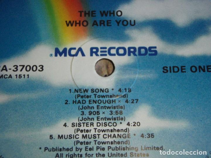 Discos de vinilo: THE WHO ( WHO ARE YOU ) USA - 1978 LP33 MCA RECORDS - Foto 3 - 112957383