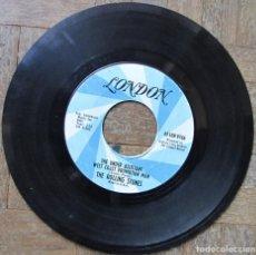 Discos de vinilo: ROLLING STONES. (I CAN'T GET NO) SATISFACTION. LONDON 1965 USA. 45 LON 9766. SIN FUNDA. DISCO VG++.. Lote 112961115