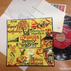 Discos de vinilo: EP PROMOCIONAL ORQUESTA SAMMY WALKER EDITADO POR TOSCA HOJA PROMOCIONAL TOTALMENTE NUEVO . Lote 112962531