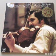 Discos de vinilo: ELGAR - VIOLIN CONCERTO OP.61 (LP) ZUKERMAN, BARENBOIM. Lote 112963763