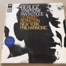Discos de vinilo: BERLIOZ - SINFONIA FANTASTICA, OP.14 (LP) LEONARD BERNSTEIN, NEW YORK PHILARMONIC. Lote 112964155