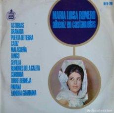Discos de vinilo: MARIA LUISA ROMERO. ALBENIZ EN CASTAÑUELAS. LP ORIGINAL HISPAVOX.. Lote 112965267