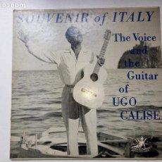 Discos de vinilo: UGO CALISE - SOUVENIR OF ITALY. Lote 112981895