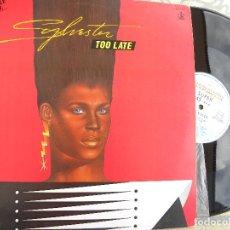 Discos de vinilo: SYLVESTER -TOO LATE -MAXI 1984 -BUEN ESTADO. Lote 112988335