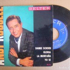 Discos de vinilo: ANDY RUSSELL - MUCHAS GRACIAS + YO SE + GLORIA + LA MONTAÑA - EP ESPAÑOL 1963 - BELTER. Lote 112988691