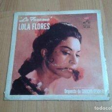 Discos de vinilo: LOLA FLORES - LA FARAONA - CON LA ORQUESTA DE CHUCHO FERRER - RCA VICTOR AÑOS 60 - EDICIÓN ARGENTINA. Lote 112991911