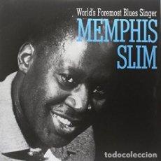 Discos de vinilo: MEMPHIS SLIM * LP HQ VIRGIN VINYL 140G * WORLD'S FOREMOST BLUES * LTD PRECINTADO!!. Lote 125962834