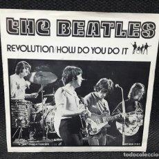 BEATLES - HOW DO YOU DO IT - REVOLUTION- SINGLE - VINILO ROJO- RARO- PAUL MCCARTNEY- JOHN LENNON