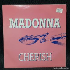 Discos de vinilo: MADONNA - CHERISH - SINGLE- PROMOCIONAL- ESPAÑA- RARO- EXCELENTE ESTADO. Lote 112994475