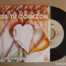 Discos de vinilo: ALCATRAZ - ABRE TU CORAZON + MAKE ME A MIRACLE - SINGLE 1977 - NOVOLA. Lote 112996563