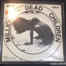 Discos de vinilo: SINGLE EP VINILO MDC 1984 MILLIONS OF DEAD CHILDREN. Lote 113007551
