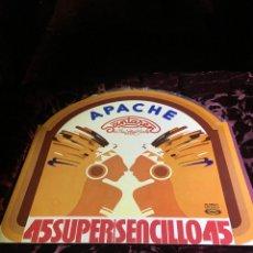 Discos de vinilo: SANTAREN & THE LOVIN' GIRLS - APACHE 12'' MAXI 1978 SPAIN. Lote 113015323