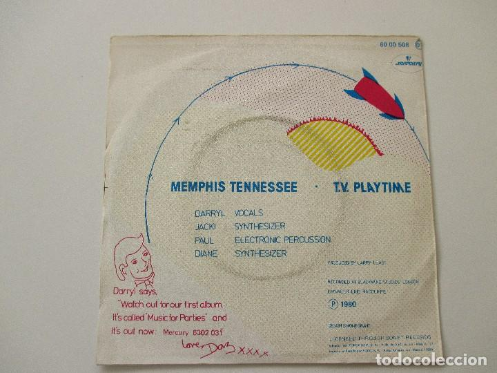 Discos de vinilo: Silicon Teens Memphis Tennessee/ TV Playtime 1980 - Foto 2 - 113022863