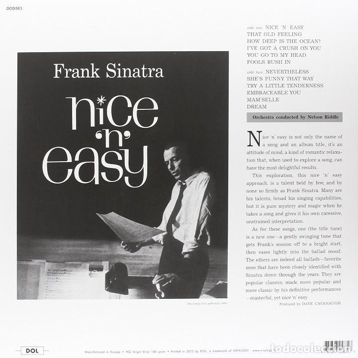 Discos de vinilo: FRANK SINATRA * LP HQ Virgin Vinyl 140g * NICE 'N' EASY * LTD Precintado!! - Foto 2 - 113026571