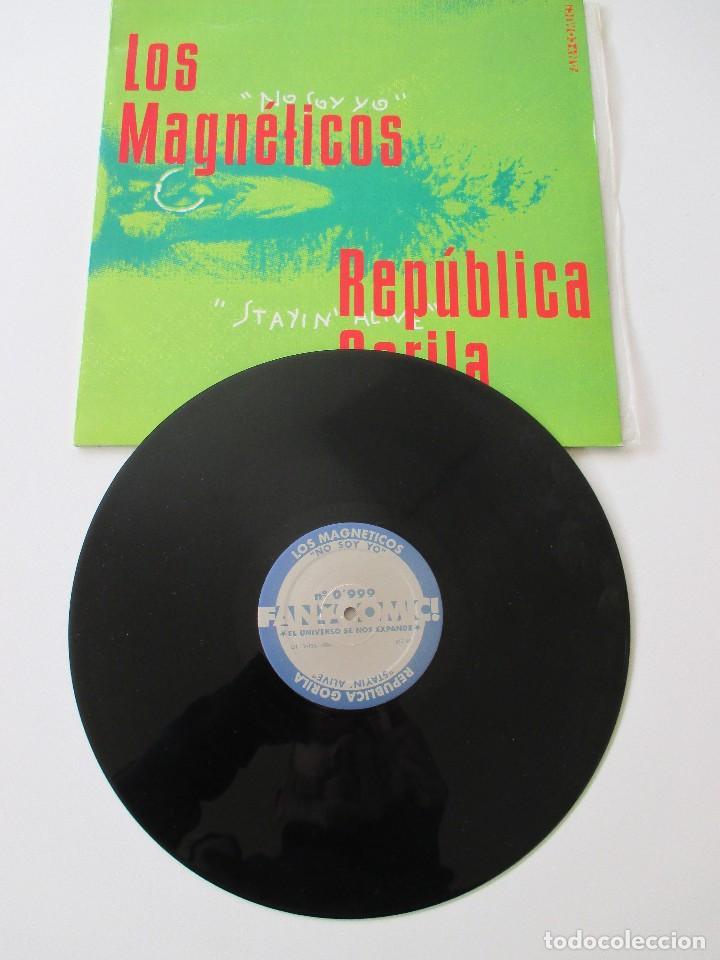 Discos de vinilo: Recopilatorio Fancomic 0,999 El universo se nos expande 1994 Magnéticos Píldora X República Gorila.. - Foto 3 - 113029851