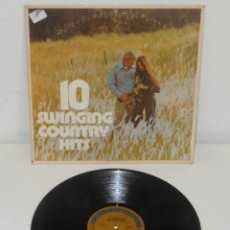 Discos de vinilo: 10 SWINGING COUNTRY HITS 1973 USA LP JERRY LEE LEWIS JOHNNY CASH LYNN ANDERSON. Lote 113031483
