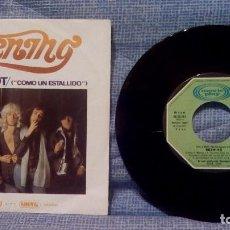 Discos de vinilo: BURNING - LIKE A SHOT (COMO UN ESTALLIDO) / ROCK 'N' ROLL - MOVIEPLAY SN-90.042 - 1975 EX. Lote 113036511