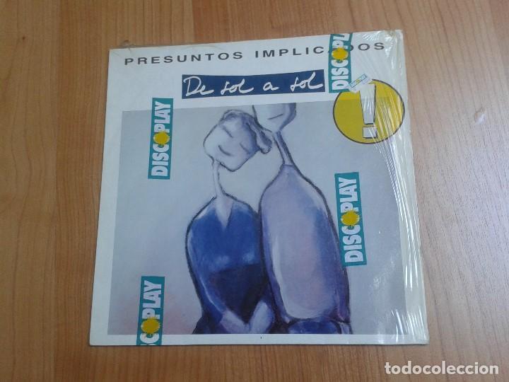 PRESUNTOS IMPLICADOS -- DE SOL A SOL -- WEA 1990 -- CON ENCARTES Y ENVOLTURA DE DISCOPLAY (Música - Discos - LP Vinilo - Grupos Españoles de los 90 a la actualidad)