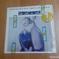 Discos de vinilo: PRESUNTOS IMPLICADOS -- DE SOL A SOL -- WEA 1990 -- CON ENCARTES Y ENVOLTURA DE DISCOPLAY. Lote 113059359
