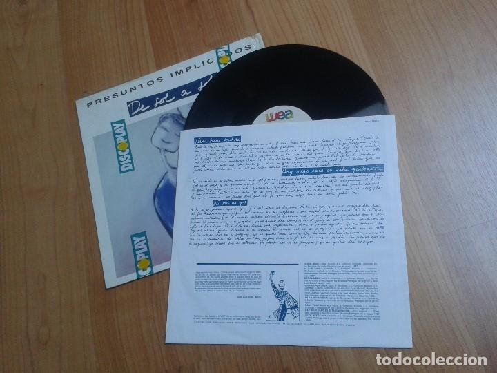 Discos de vinilo: Presuntos Implicados -- De Sol a Sol -- Wea 1990 -- Con encartes y envoltura de Discoplay - Foto 2 - 113059359