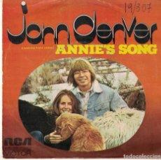Dischi in vinile: JOHN DENVER - ANNIE'S SONG / COOL AN' GREEN AN' SHADY (SINGLE ESPAÑOL, RCA 1974). Lote 113063811