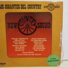 Discos de vinilo: LOS GIGANTES DEL COUNTRY - W. JENNINGS, JIM REEVES... - 2 X LP - 1975 - VG+/VG. Lote 113070527