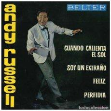 Discos de vinilo: ANDY RUSSELL. CUANDO CALIENTA EL SOL. EP BELTER 1962 (SOLO DISCO). Lote 113081739