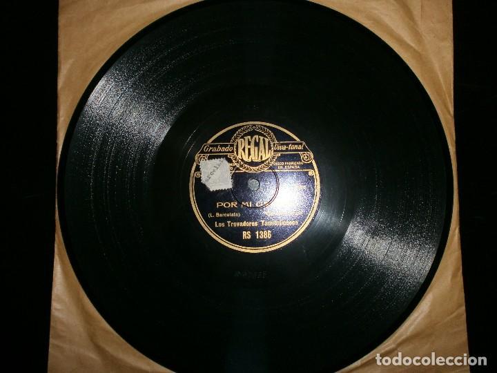 Discos de vinilo: Disco de pizarra. Los trovadores tamaulipecos. Discográfica Regal. - Foto 2 - 113096791