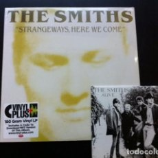 Discos de vinilo: LOTE THE SMITHS STRANGEWAYS HERE WE COME LP + LIVE IN MANCHESTER EP VINILO . Lote 113097771